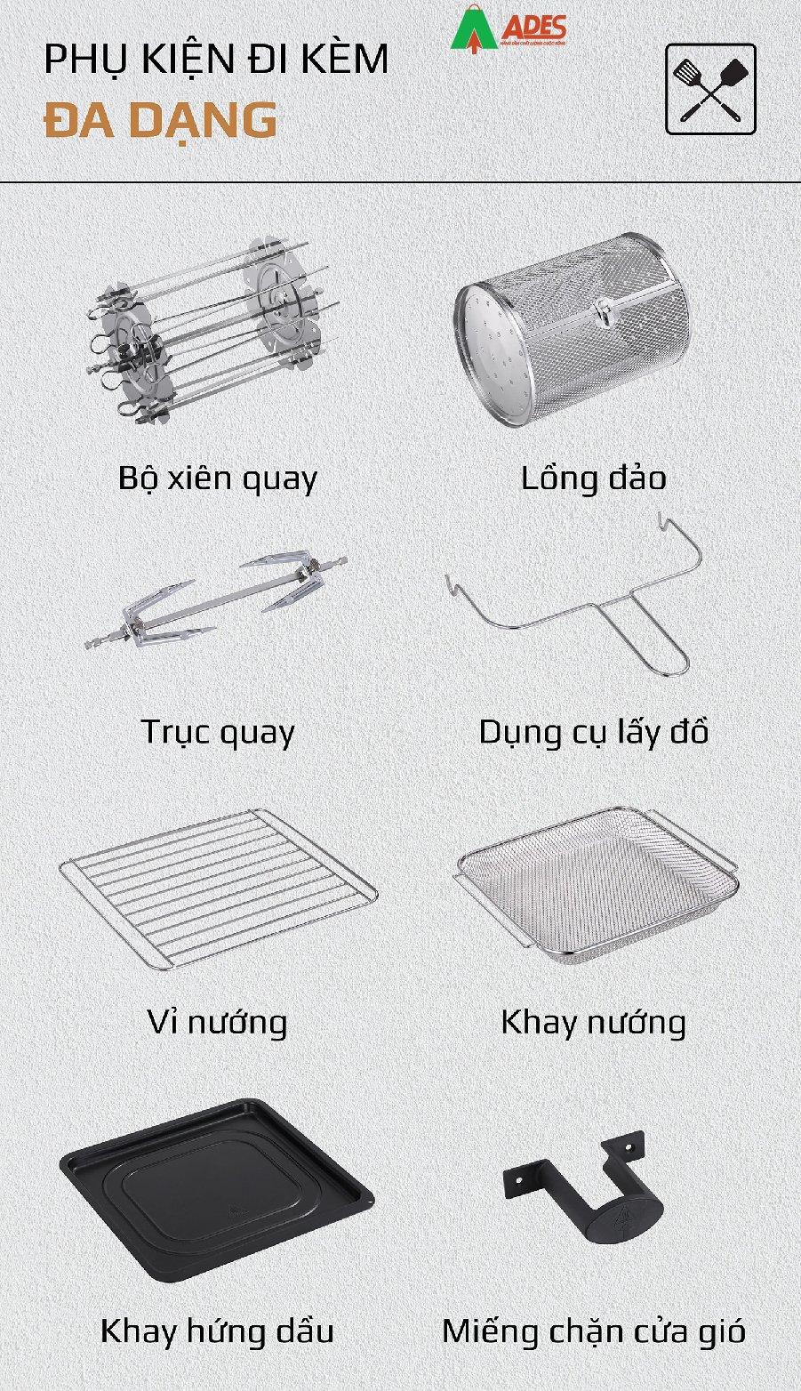 Noi Chien Khong Dau OLIVO AF 15 phu kien da dang